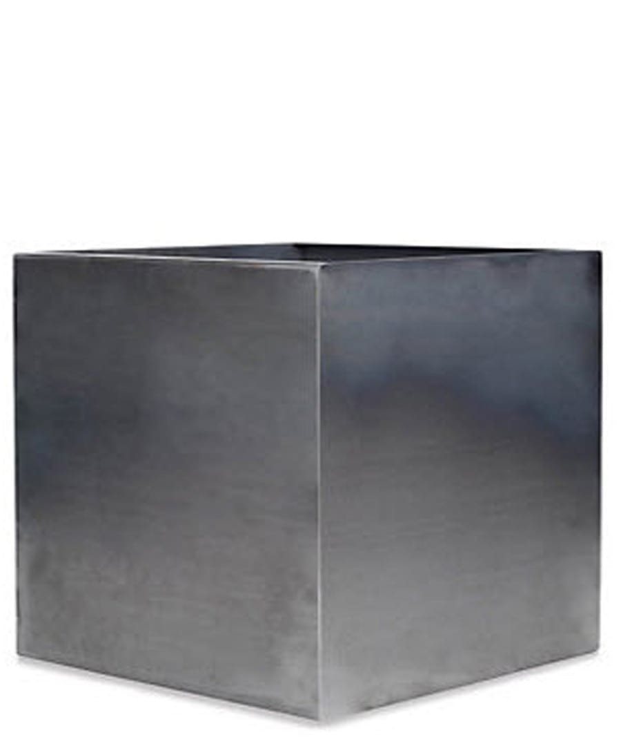 Container Planter Cube Stainless Steel