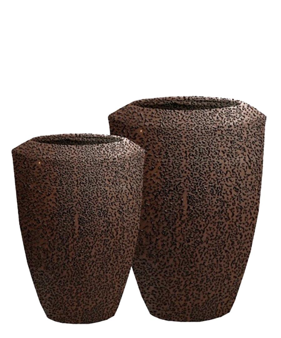 Ceramic Planters Dark Speckled Containers