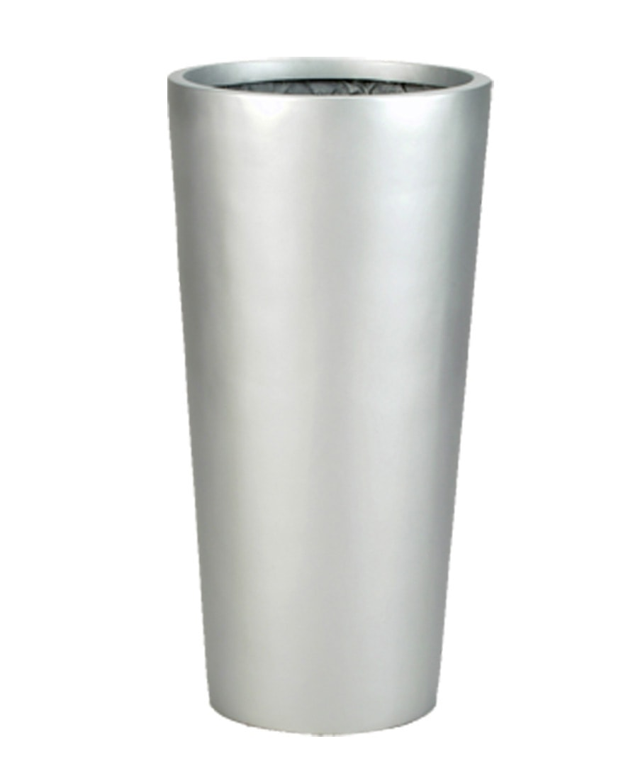 Fiberglass Container Planter Euro Tall Cylinder