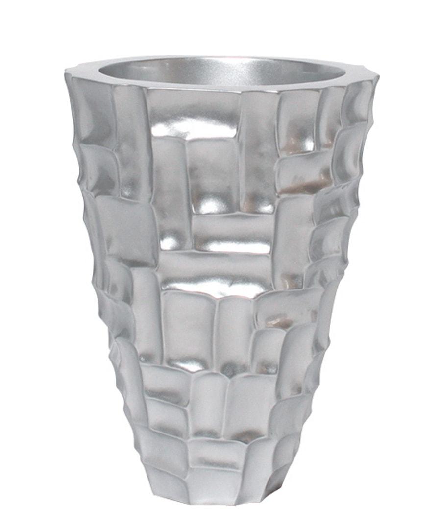 Container Mosiac Silver Planter
