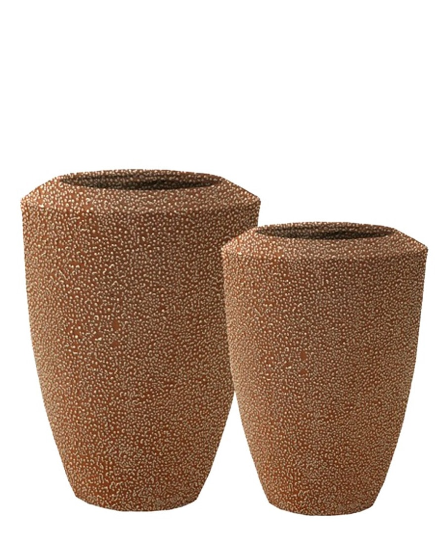 Ceramic Planter Nuetral Speckle Containers