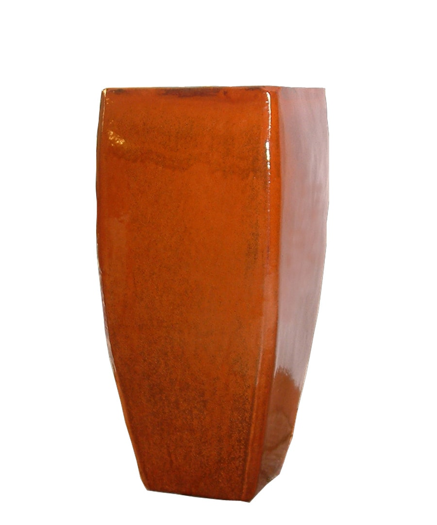 Ceramic Planter Container Rounded Square Cylinder