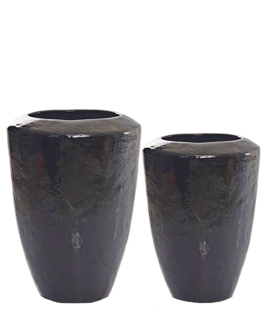 Ceramic Planter Sloped Urn Containers
