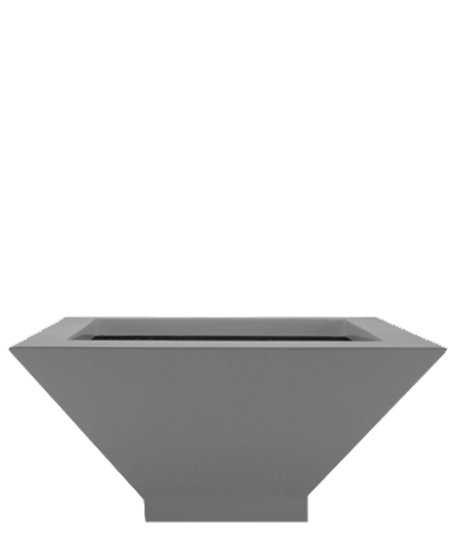 Fiberglass Container Tier Square Bowl