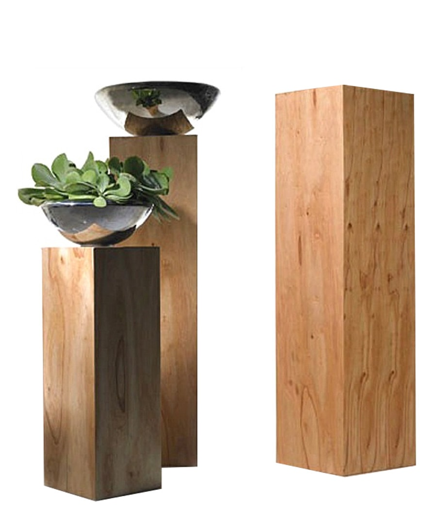 Container Guide Wooden Pedestal